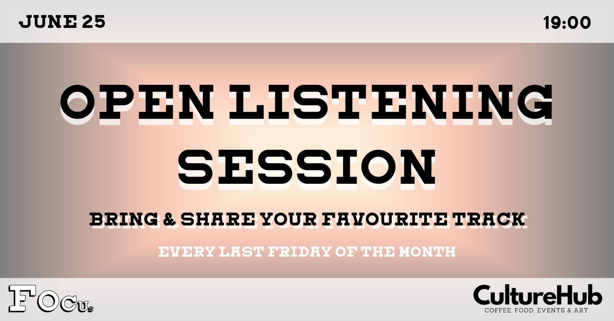 Ticket kopen voor evenement Luisterbar: Open Listening Session