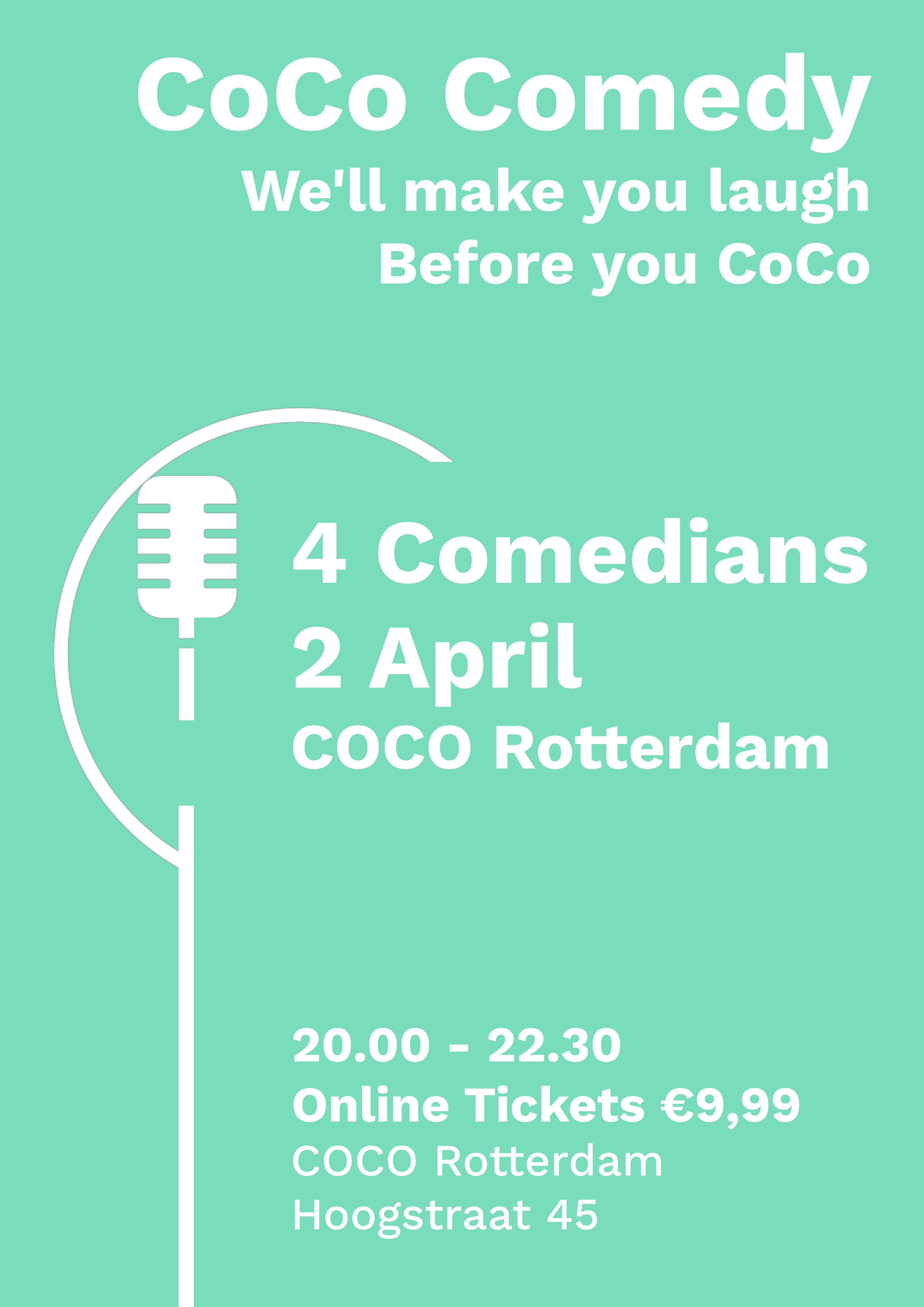 Ticket kopen voor evenement CoCo Comedy April