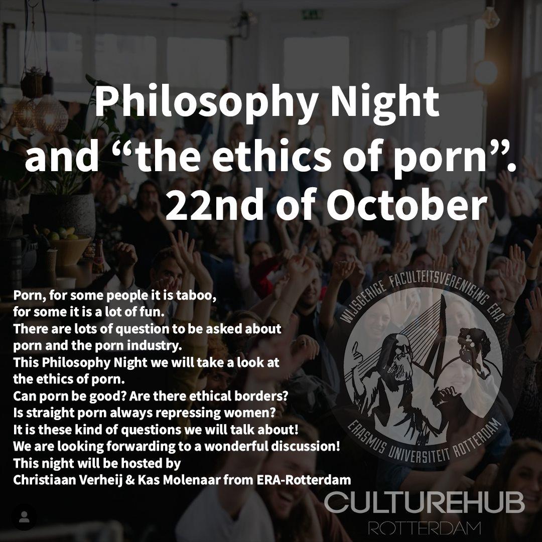 """Ticket kopen voor evenement Philosophy Night and """"the ethics of Porn"""""""