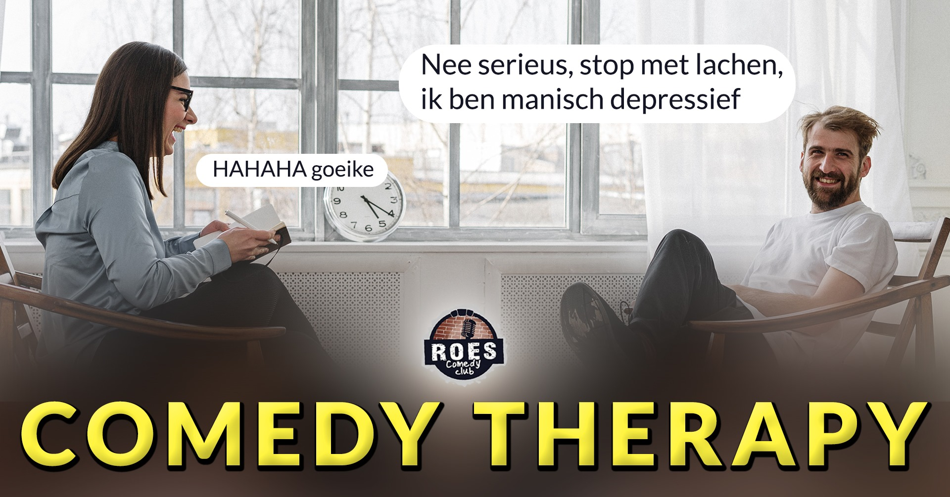 Ticket kopen voor evenement Roes Comedy Club: Comedy Therapy
