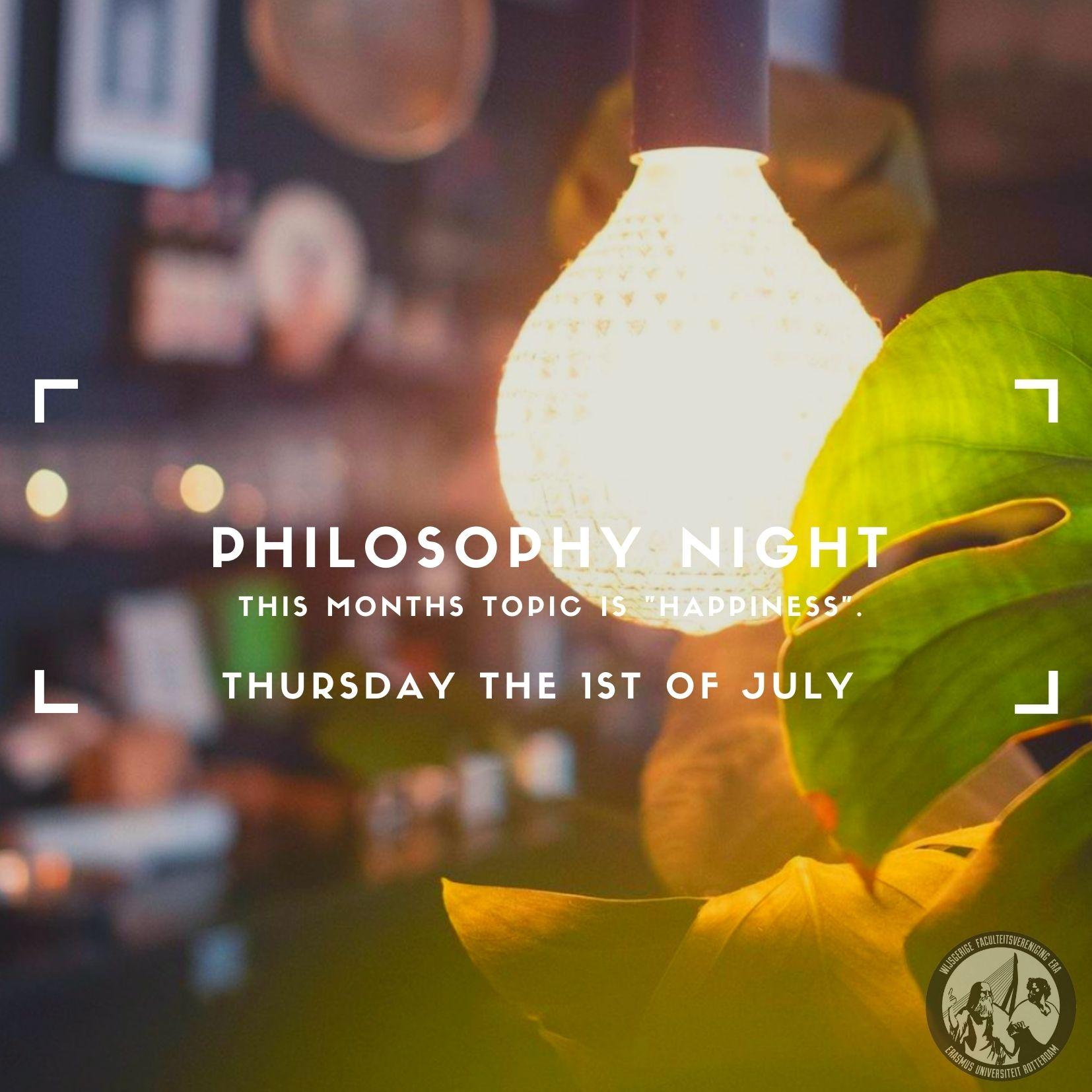 """Ticket kopen voor evenement Philosophy Night """"Happiness"""""""