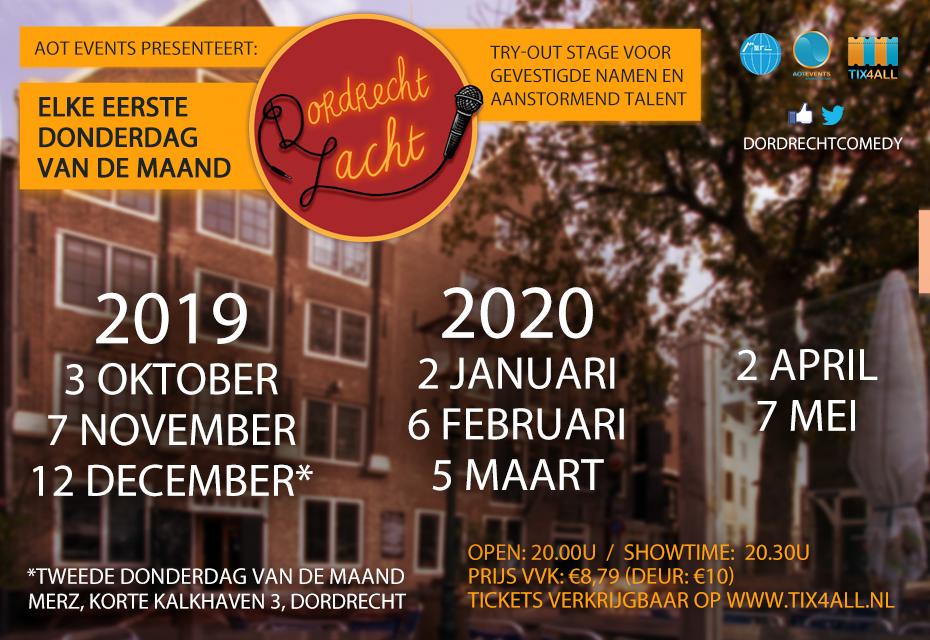 Ticket kopen voor evenement Dordrecht Lacht: Try-out Comedy Night