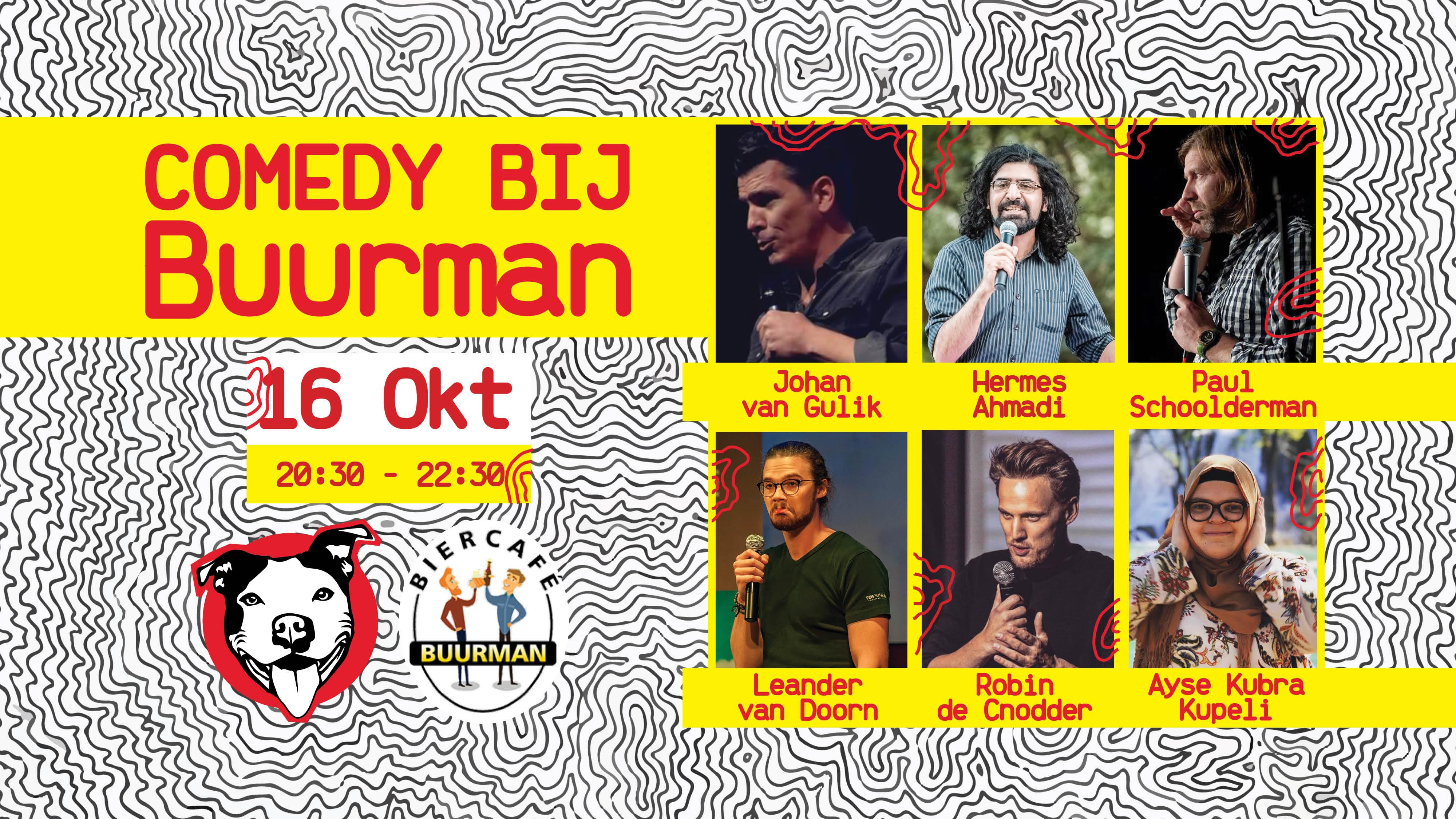 Ticket kopen voor evenement Comedy bij Buurman