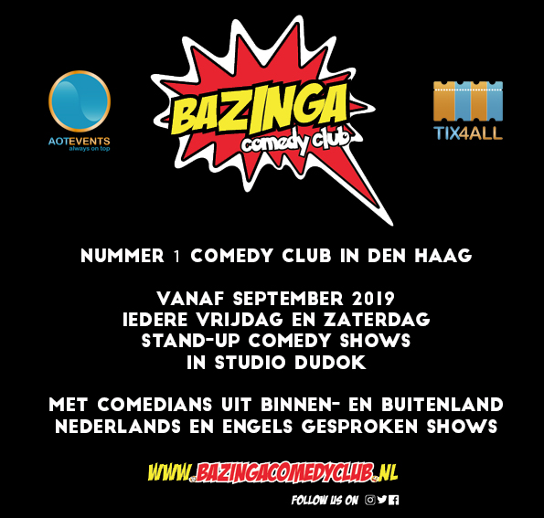 Ticket kopen voor evenement Bazinga Comedy Night (NL)