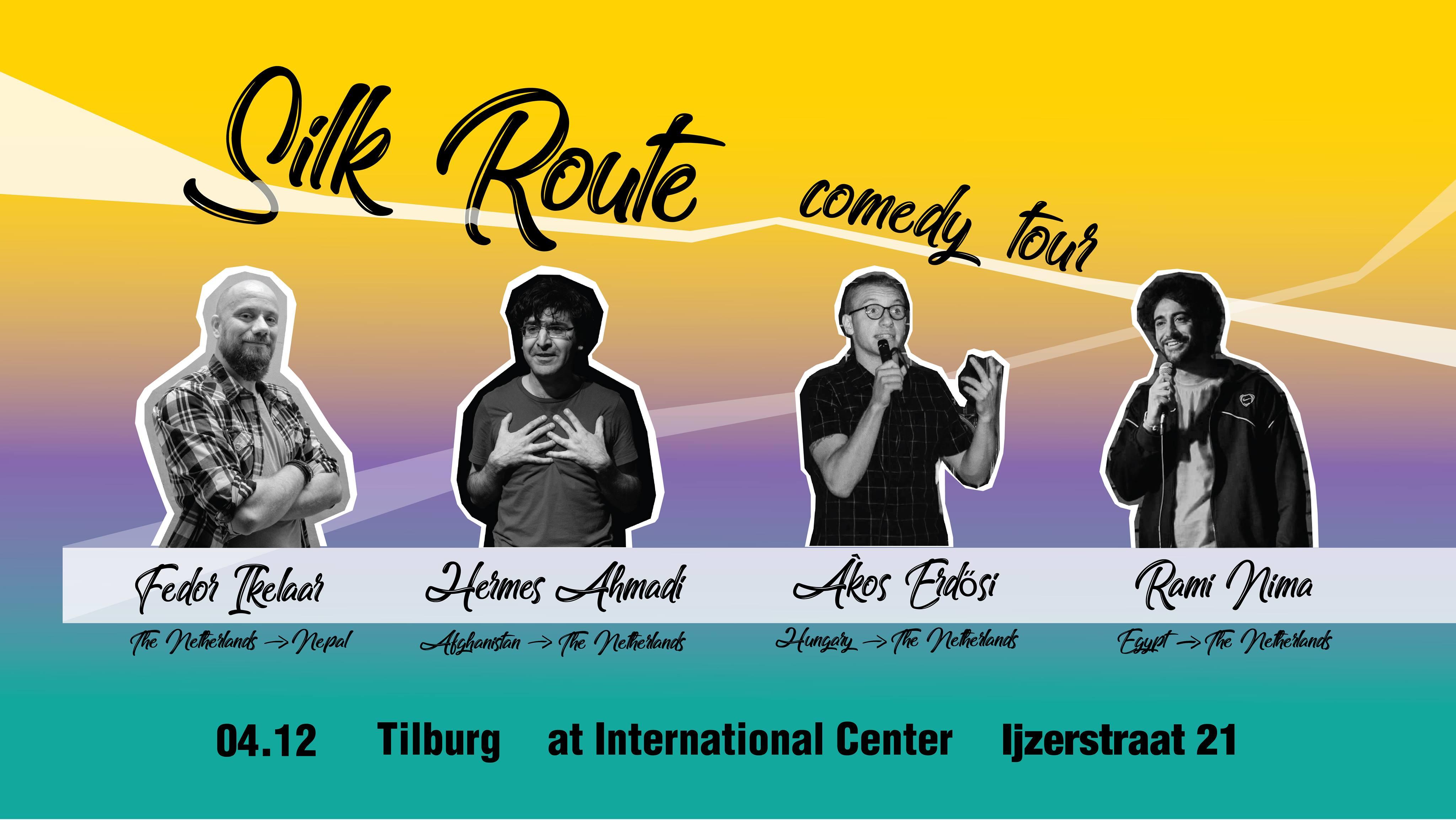 Ticket kopen voor evenement Silk Route Comedy Tour at International Center Tilburg