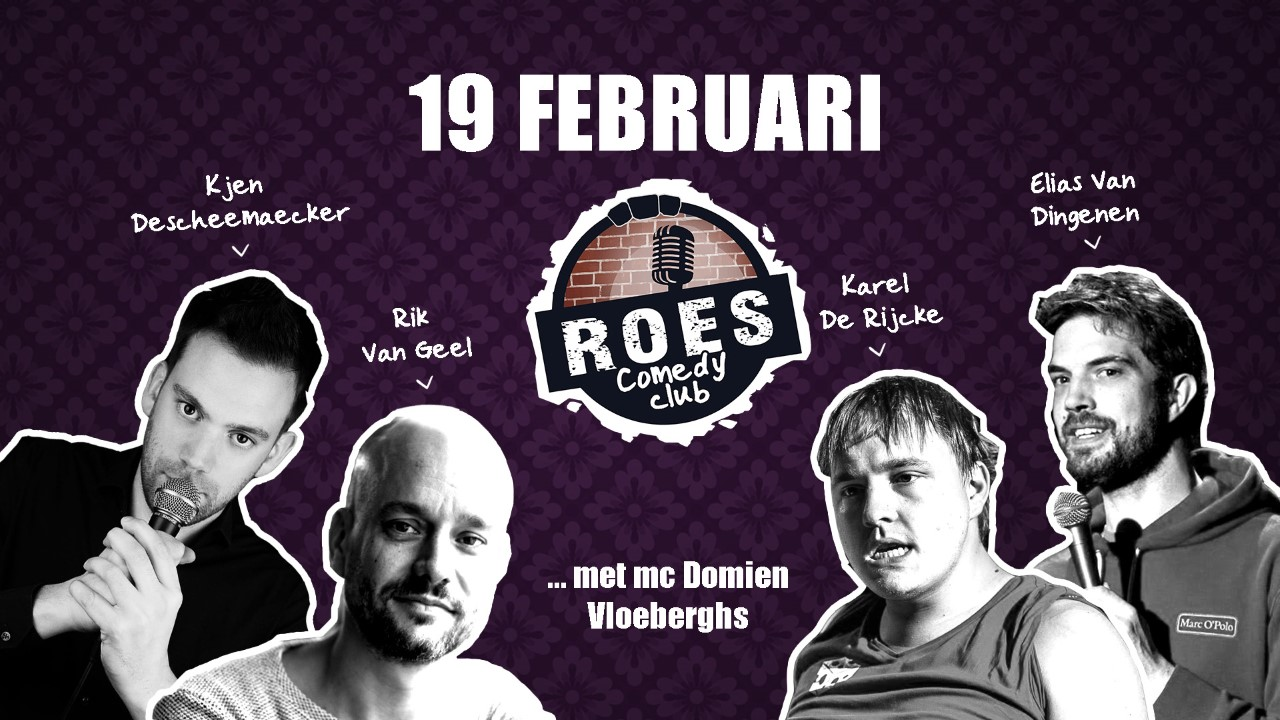 Ticket kopen voor evenement Roes Comedy Club: Line Up Show