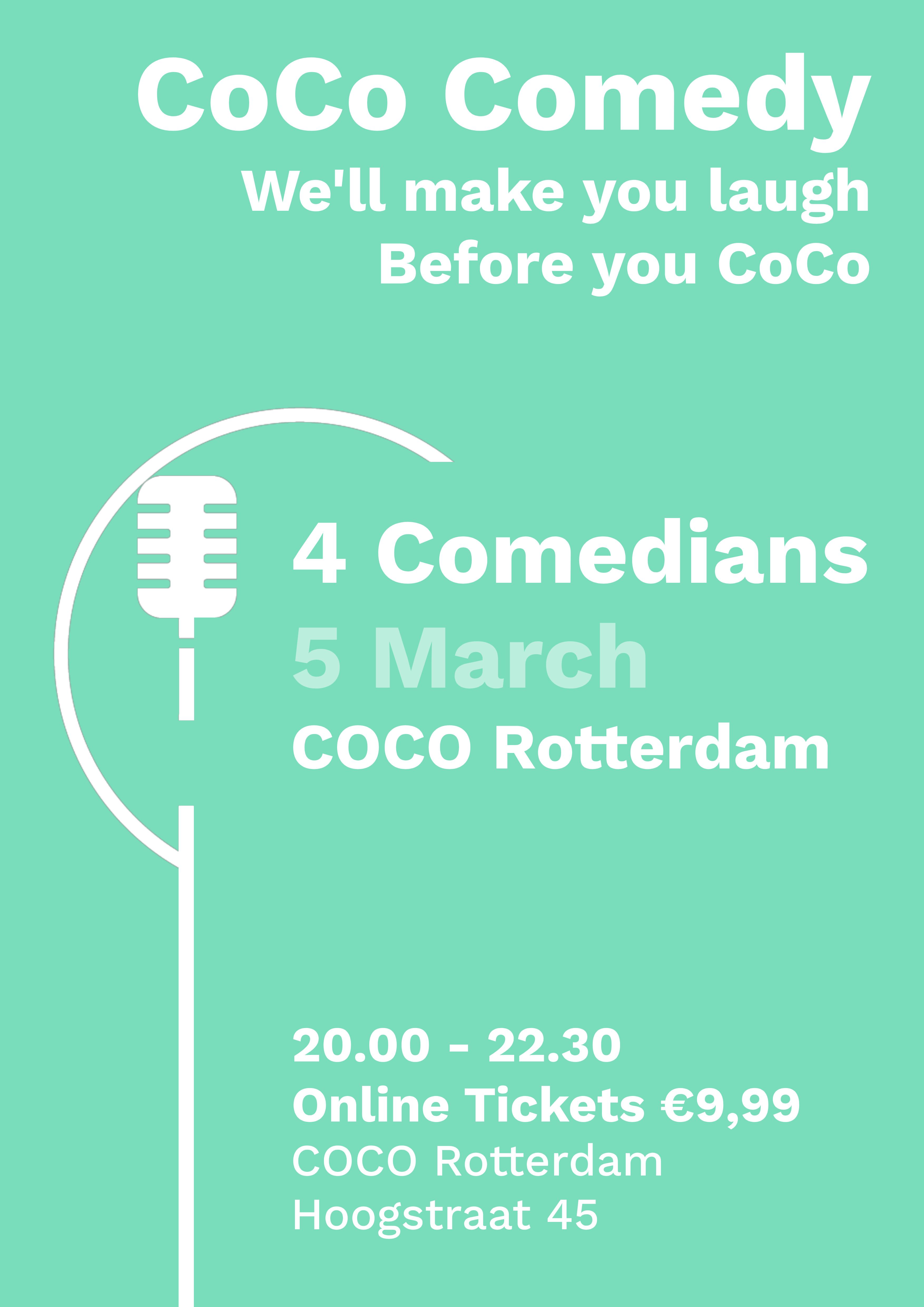 Ticket kopen voor evenement CoCo Comedy March