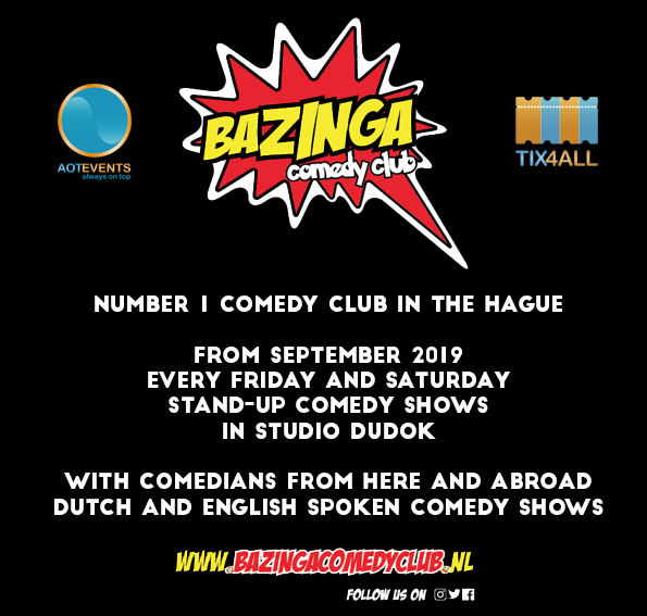Ticket kopen voor evenement Bazinga Comedy Night (ENG)