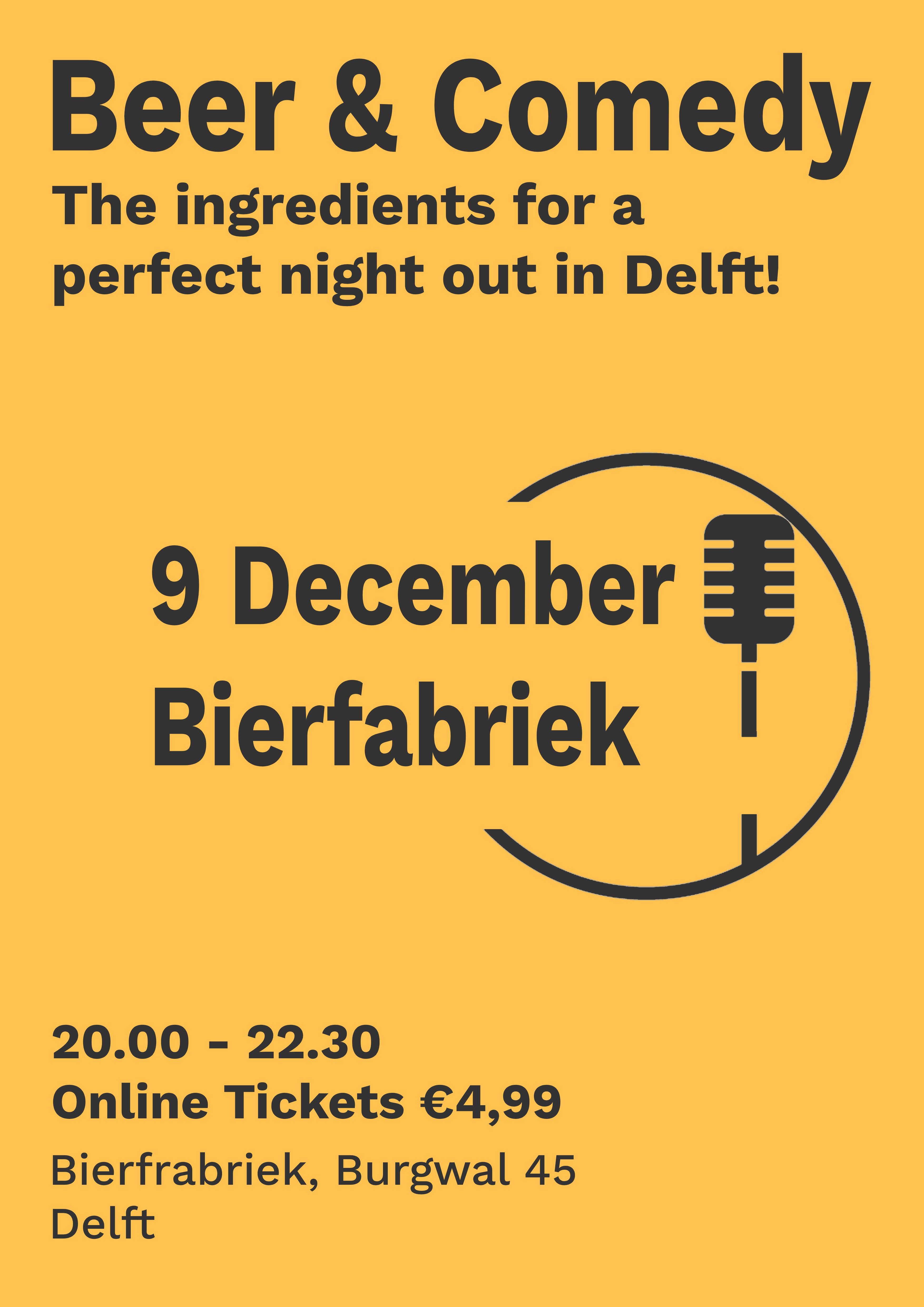 Ticket kopen voor evenement Beer & Comedy