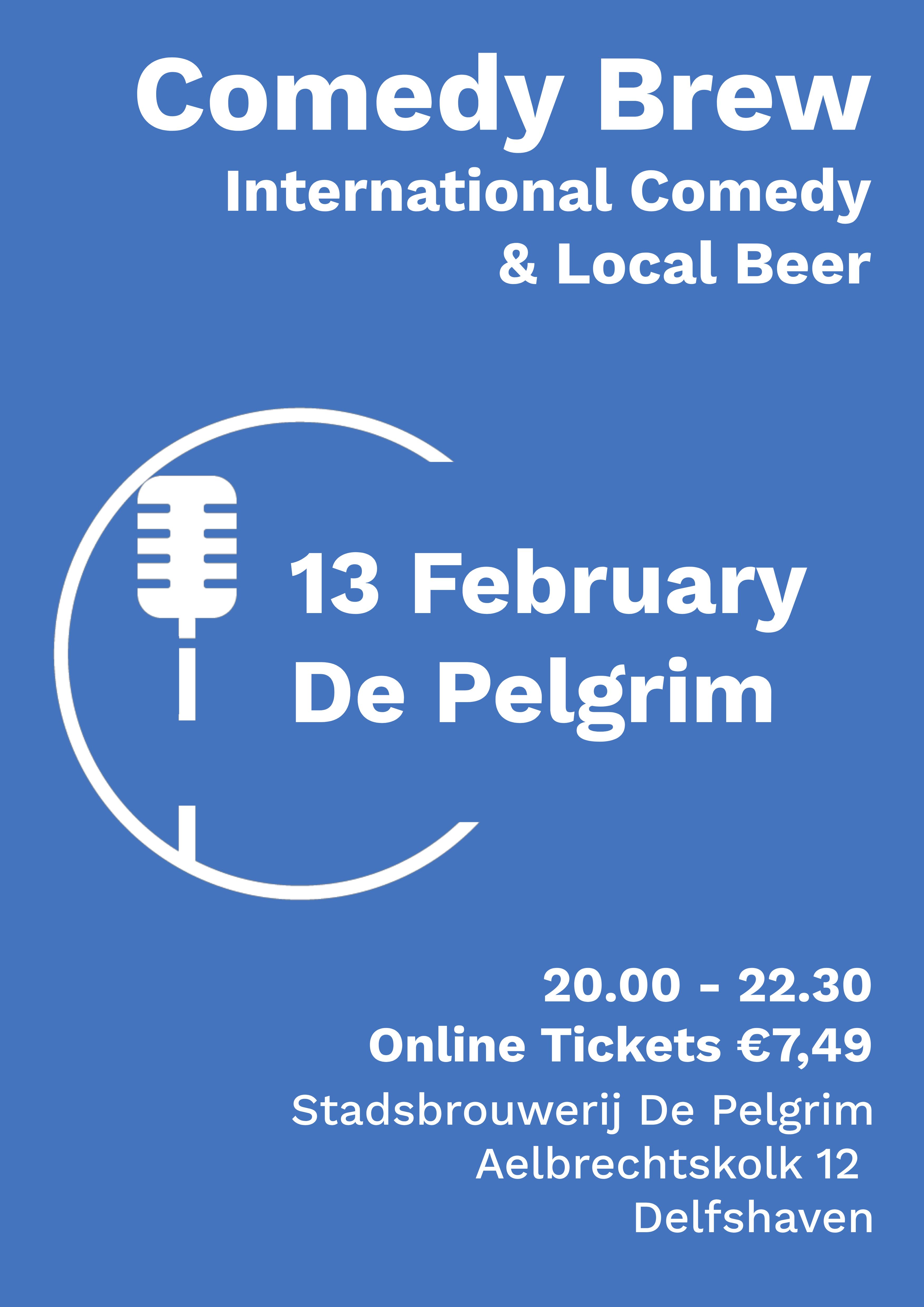 Ticket kopen voor evenement Comedy Brew February