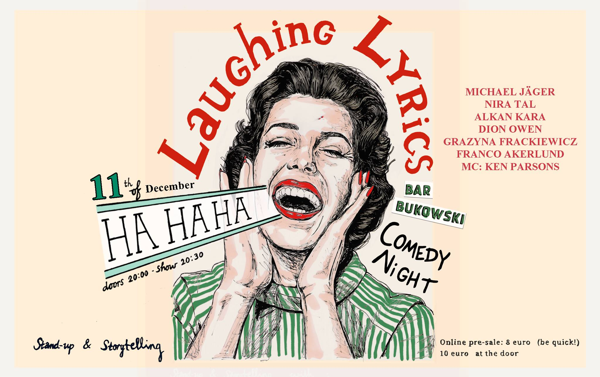 Ticket kopen voor evenement Laughing Lyrics Comedy Night- Michael Jaeger