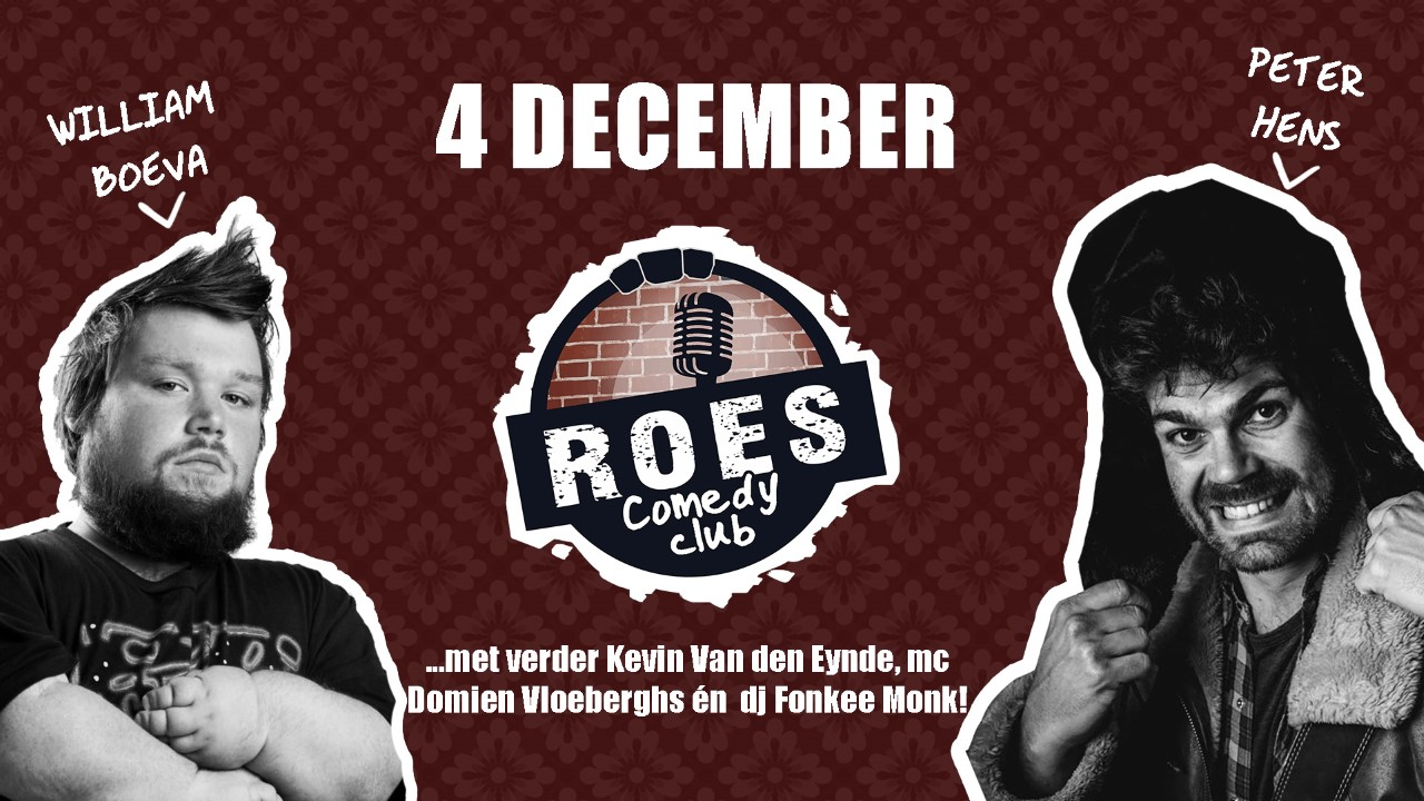 Ticket kopen voor evenement Roes Comedy Club: William Boeva
