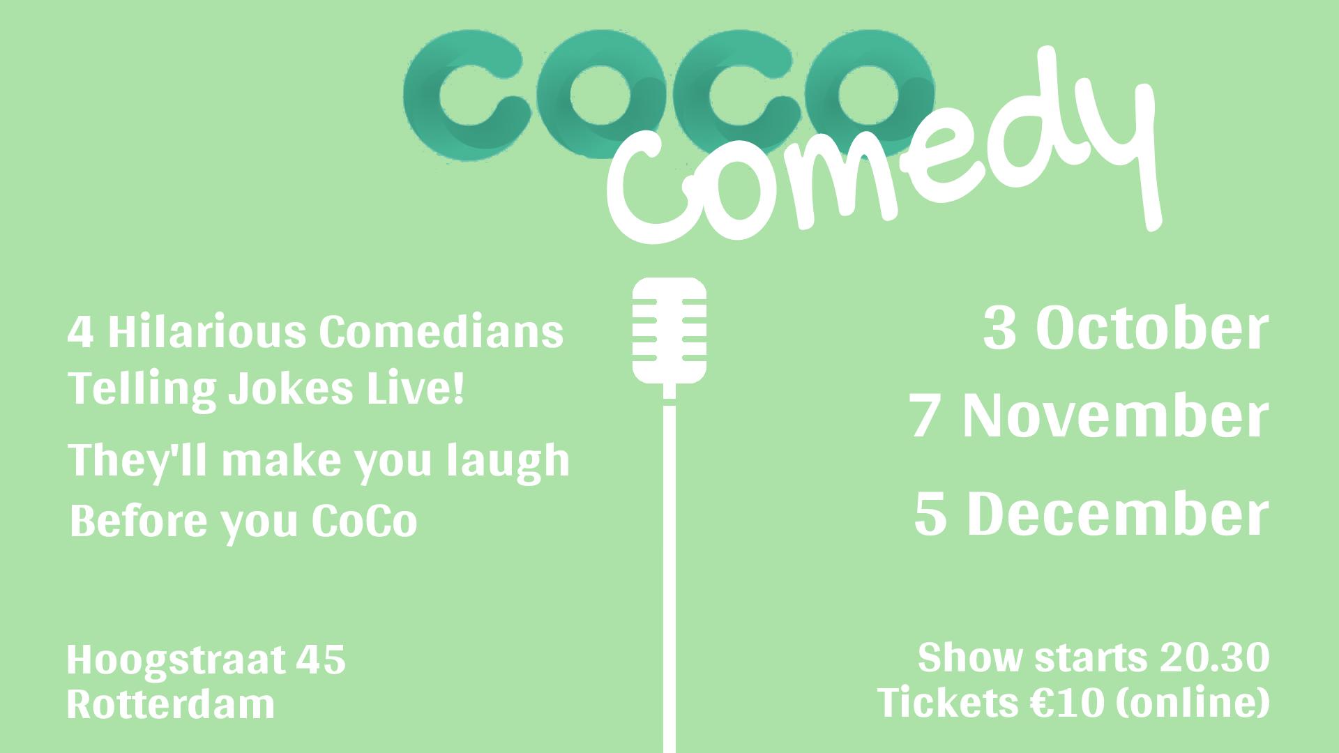 Ticket kopen voor evenement CoCo Comedy October