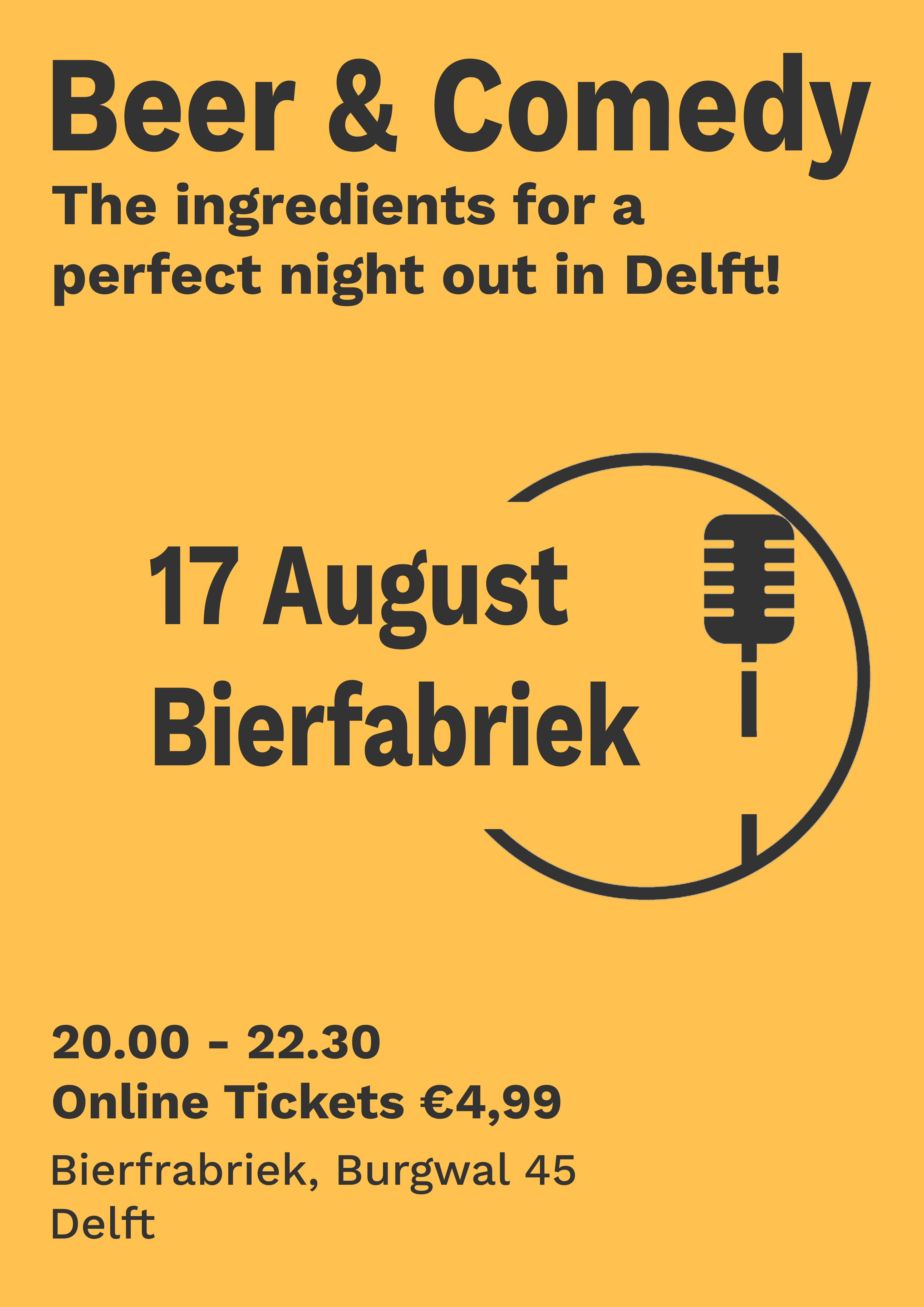 Ticket kopen voor evenement Summer Beer & Comedy