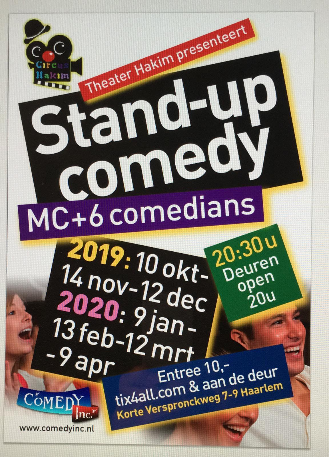 Ticket kopen voor evenement Comedy show circus Hakim