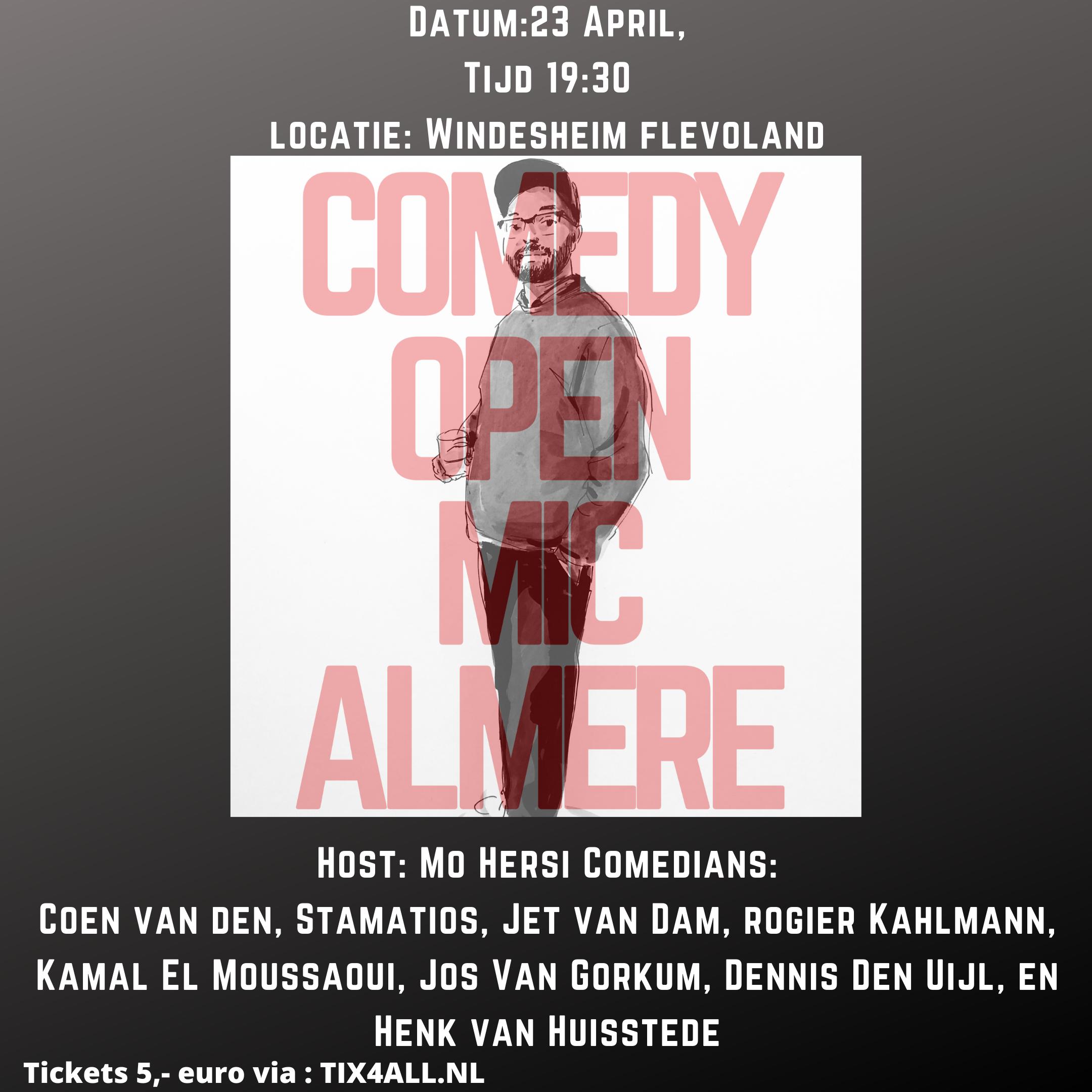 Ticket kopen voor evenement Comedy Open Mic Almere