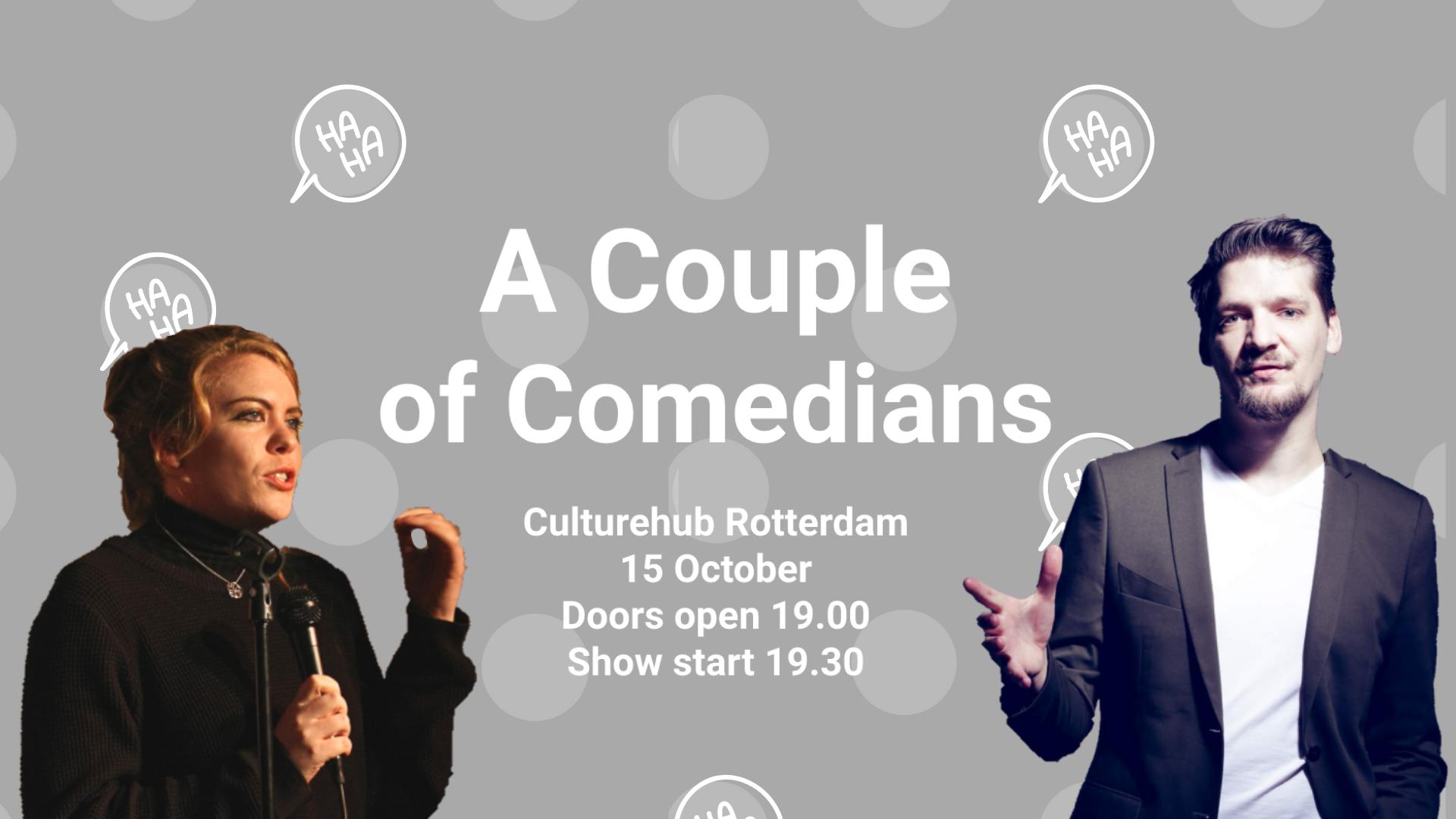 Ticket kopen voor evenement A Couple of Comedians @ CultureHub