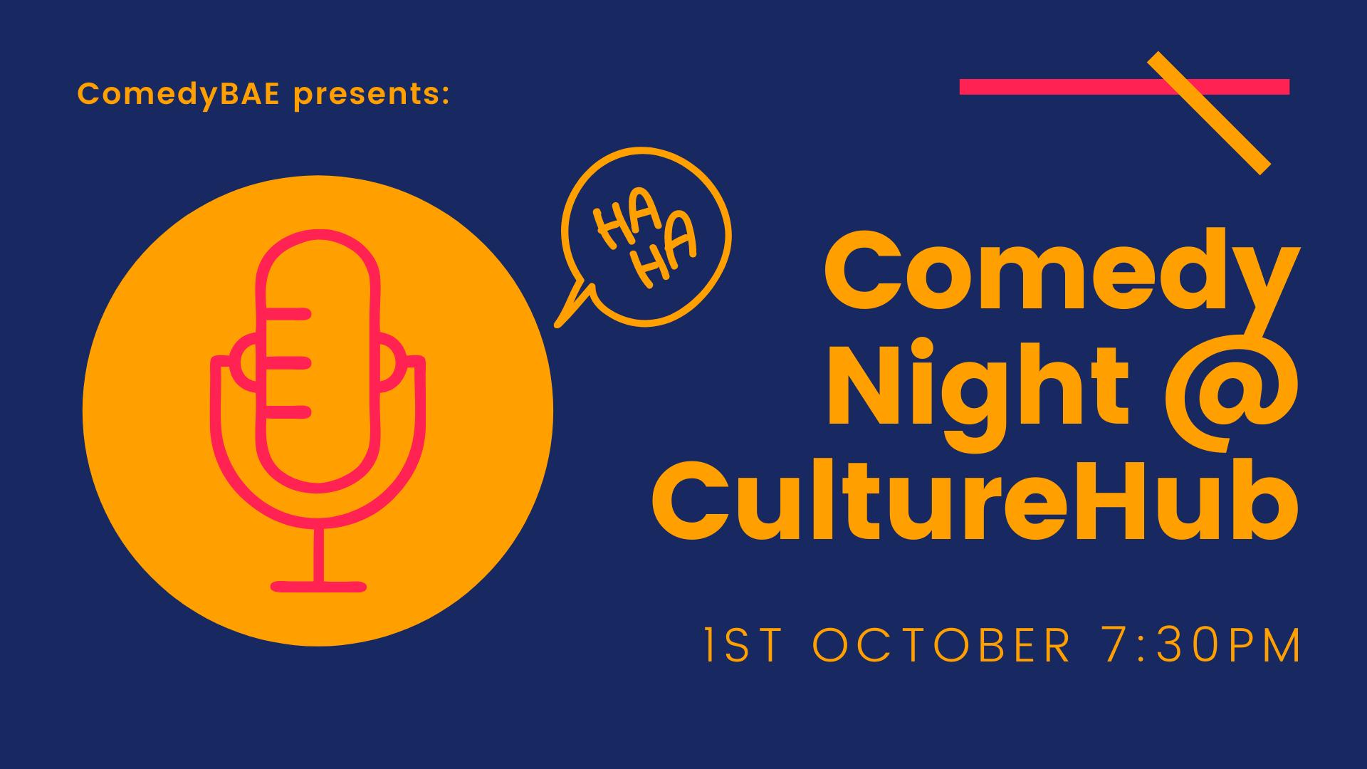 Ticket kopen voor evenement Comedy Night at CultureHub - 1/10