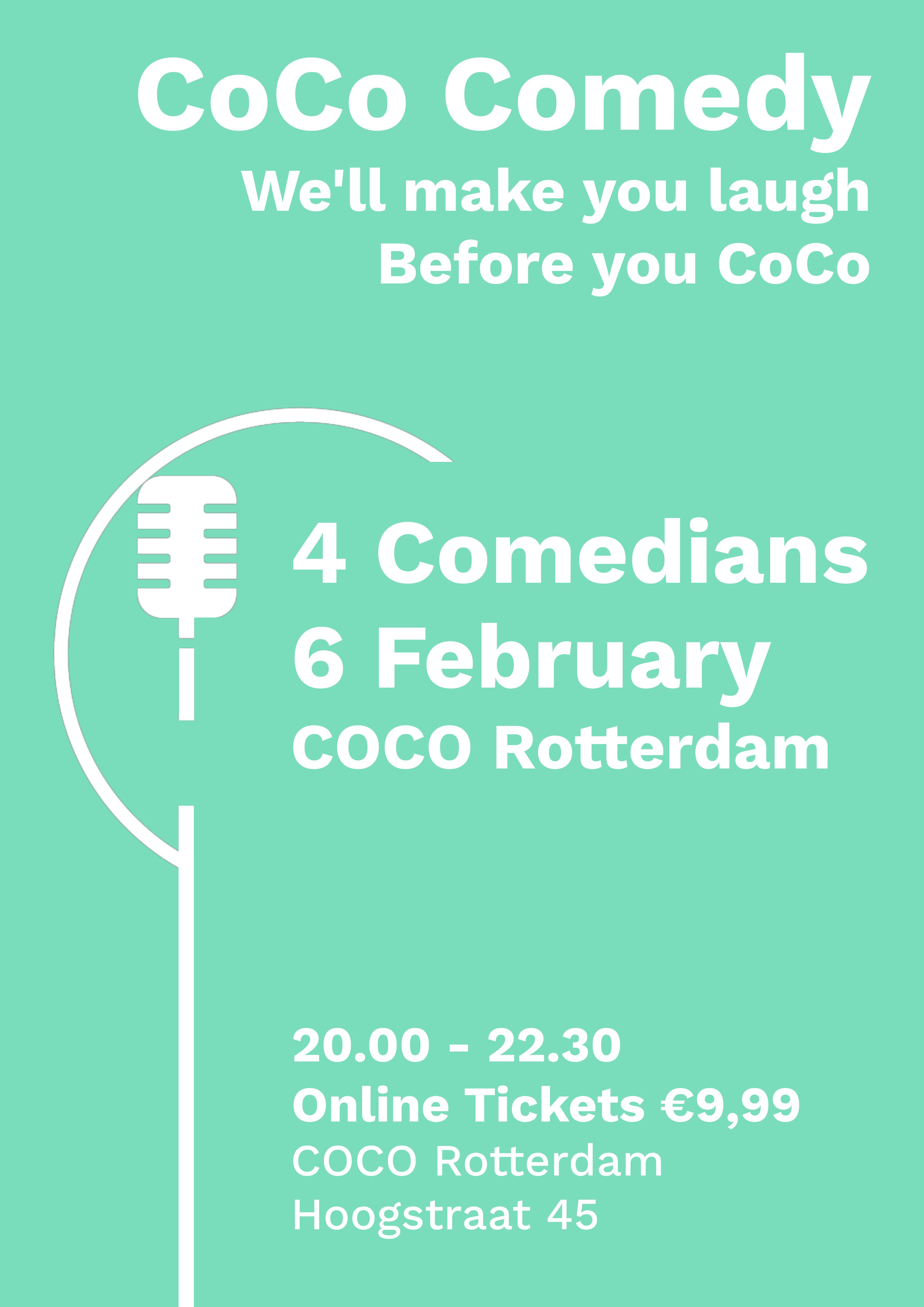 Ticket kopen voor evenement CoCo Comedy February