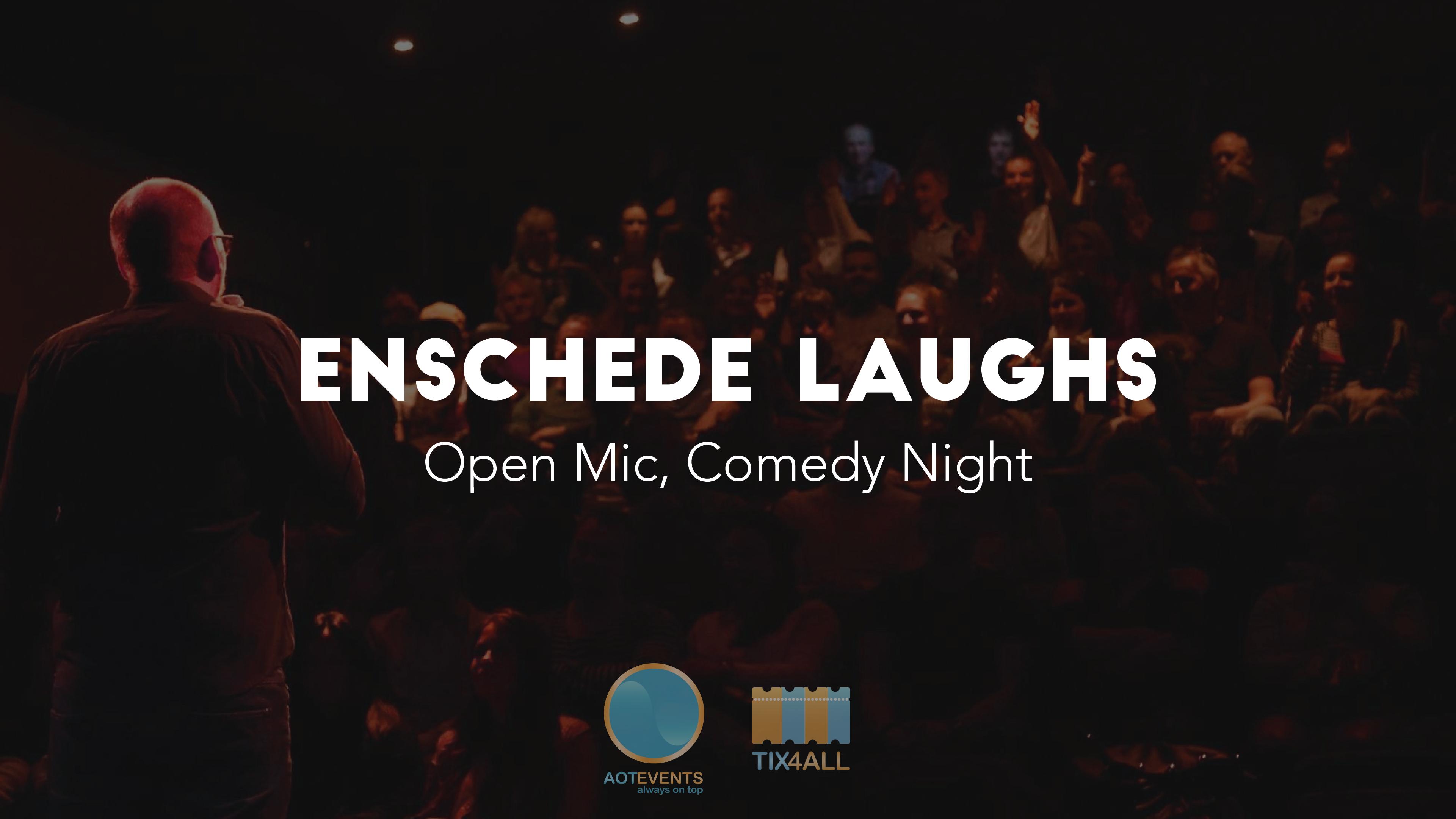 Ticket kopen voor evenement Enschede Laughs: Open Mic, Comedy Night